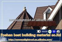 Color Stone Coated Roof Tile Flat Roofing Materials Sheet Metal Roofing Tiles for Sale