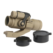 ANS Hunting Riflescopes 1X32mm M2 Sighting Telescope Laser Gun Sight with Reflex Red /Green Dot Scope for Picatinny Rail TAN