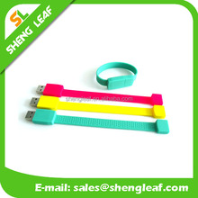 customized usb flash drive Silicone USB Bracelet/Wristband USB