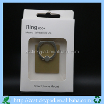 Portable cell phone mobile phone ring stent with logo