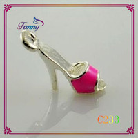 C233 Pretty Shoes Shaped Pendant With Lobster Clasp, Shoes Shaped Thomas Charm