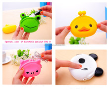 Custom Colorful Silicone Purse Wallet /Cute Animal Cartoon Shape Silicone Coin Purse