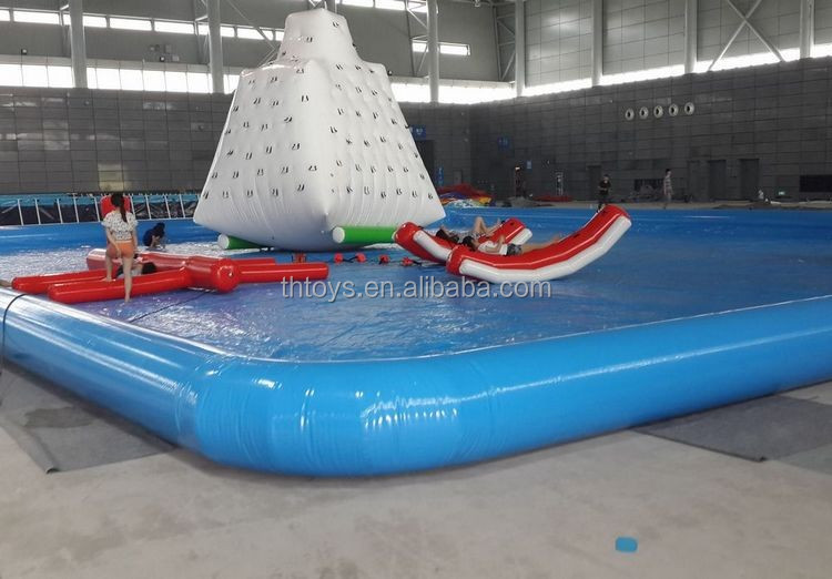 water park swimming pool inflatable lap pool, view inflatable lap