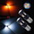 Dual Color 3030 LED Light 1157 T20 3157 Bayonet Super bright Stop Brake Turn Signal LED LIGHT Bulb