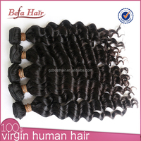 2015 fish wire hair extension malaysian deep wave hair