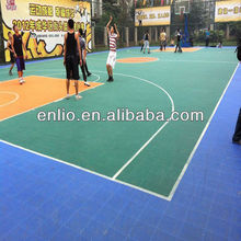 Promotion environment friendly Modified PP Anti-UV weatherproof outdoor basketball court flooring