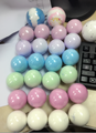 Private label bubble color ball shape bath bombs