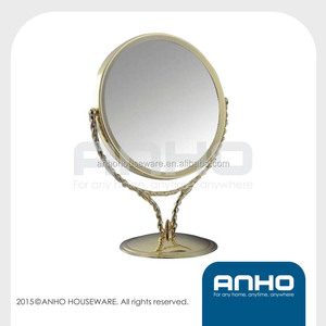 Double-sided Make Up Mirror, Cosmetic mirror, table mirror, brass