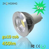 led spotlight 450 lumen CE RoHS 5w gu10 led long neck lamp