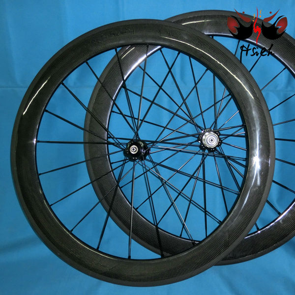 Full carbon bicycle clincher 60mm rims for road bicycle 700C