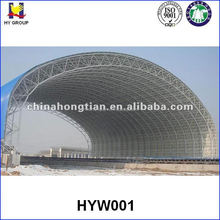 Prefabricated space frame steel structure industrial building
