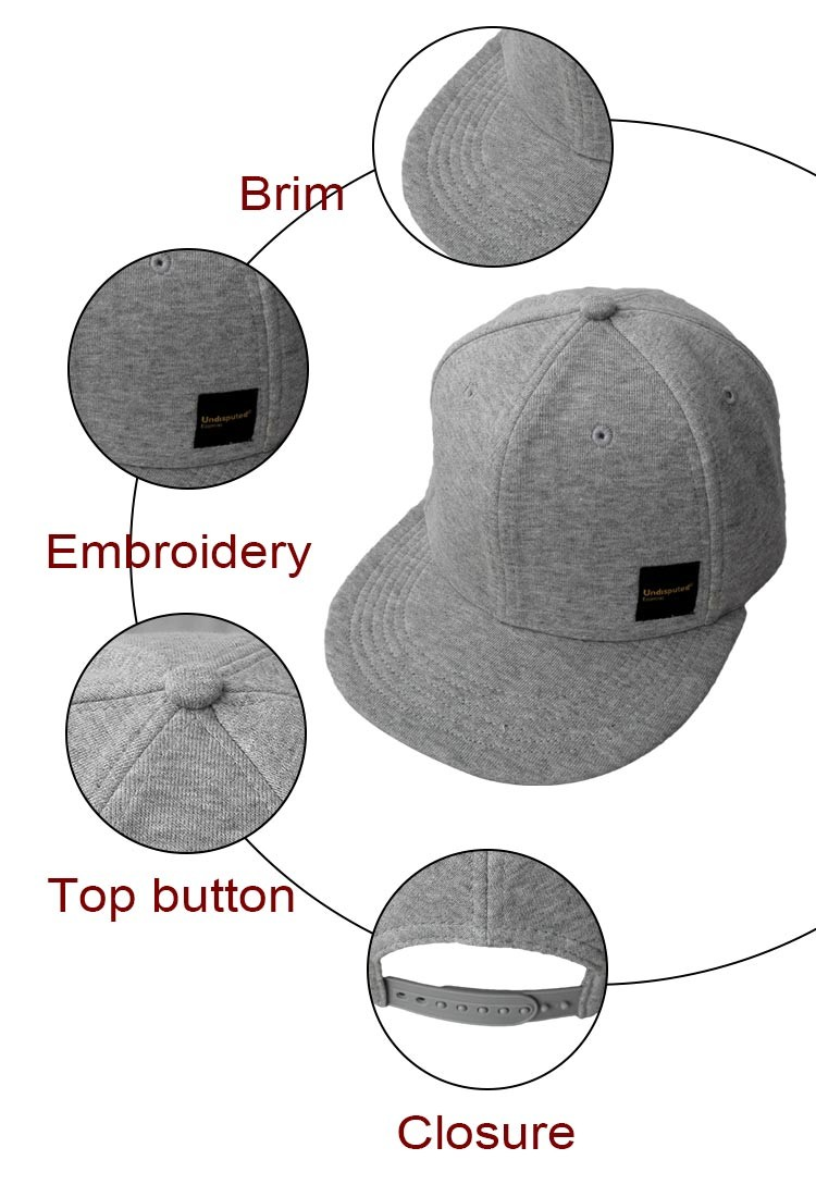 custom sweater material flat brim snapback hats and caps with embroidery logo in good shape