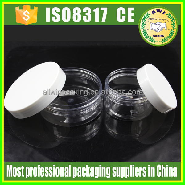 transparent food sealed cans plastic bottles recycled plastic cosmetic jars