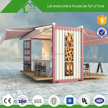 Low cost Movable customized multifunction food store/candy store prefabricated cabin
