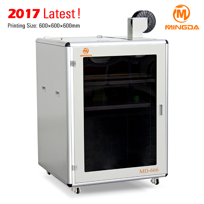 Build Your Own 3D Printer 600 x 600 x 600 mm Size Industrial Machine , MINGDA MD-666 3D Printer Desktop Customized for You