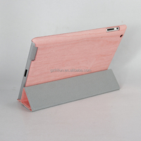 Wooden fashion pu leather tablet cover for ipad case