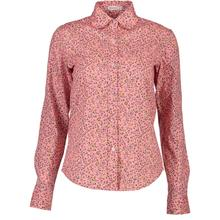 Pink vintage woman blouse floral print blouses fall women clothes