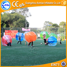 Crazy sport human inflatable bubble ball, buddy bumper ball for adult
