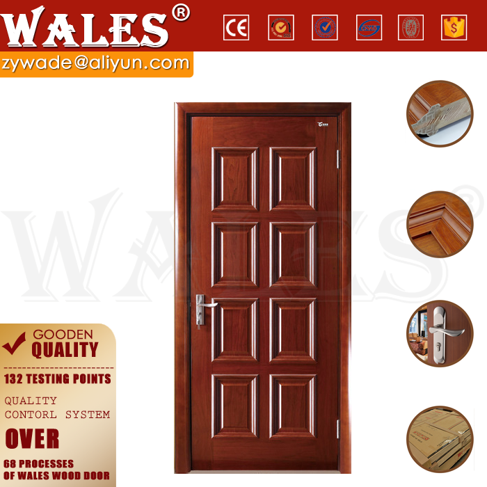 Wholesale laminated melamine double entrance interior half french door