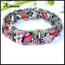 Fashion red stone mk bracelet