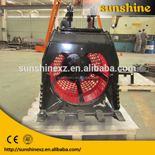 20ton excavator rotating sieve bucket/hydraulic rotatory for excavator