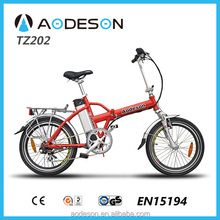 20 inch folding Electric bicycle TZ202,brushless gear motor