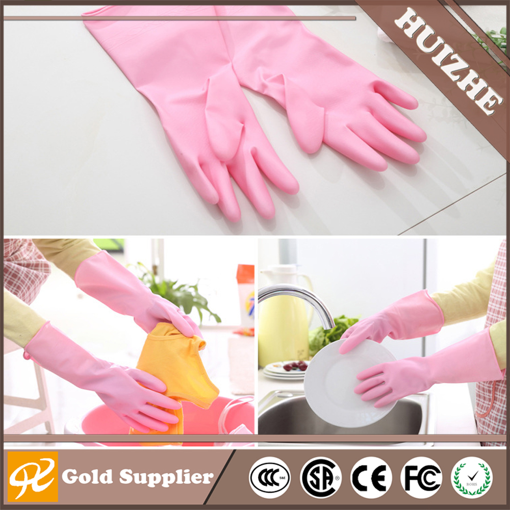 China supplier Wholesales washing gloves dishwashing laundry rubber gloves