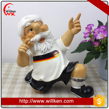 World Cup Souvenir Football Gnome Figurine for Sale