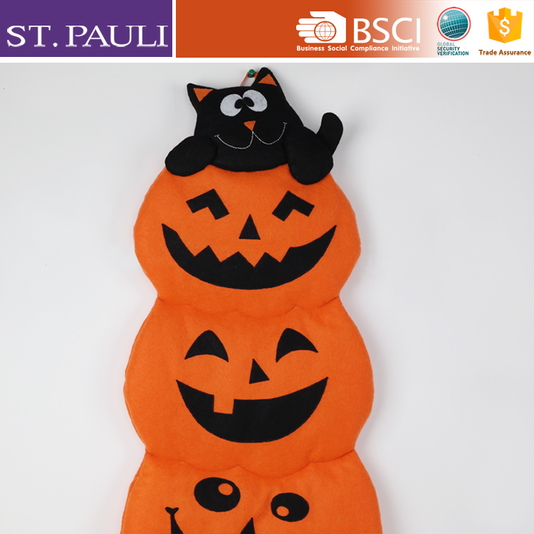 fancy halloween felt decorative hanging pumpkin