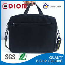 Wholesale custom logo printed black large mens messenger laptop bags