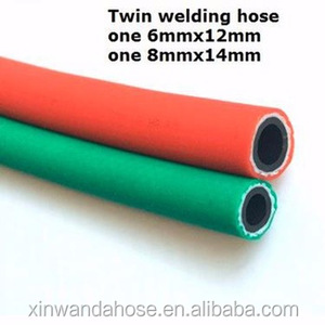 Twin line welding gas rubber hose pvc pipe wire reinforced CNC / LPG hose