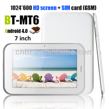 7 inch tablet pc with voice call with 4gb nano flash