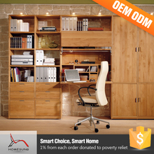 Modern Design Narrow Wooden Office Rosewood Furniture Bookcase