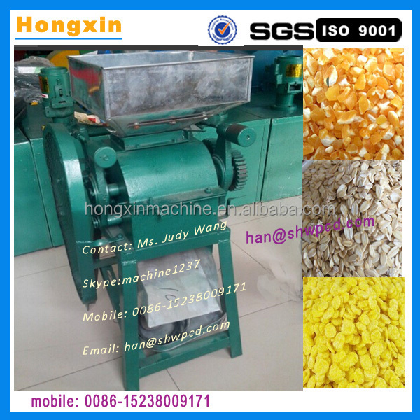 small corn flake making machine, flaking mill for corn, cereal, oatmeal, rice