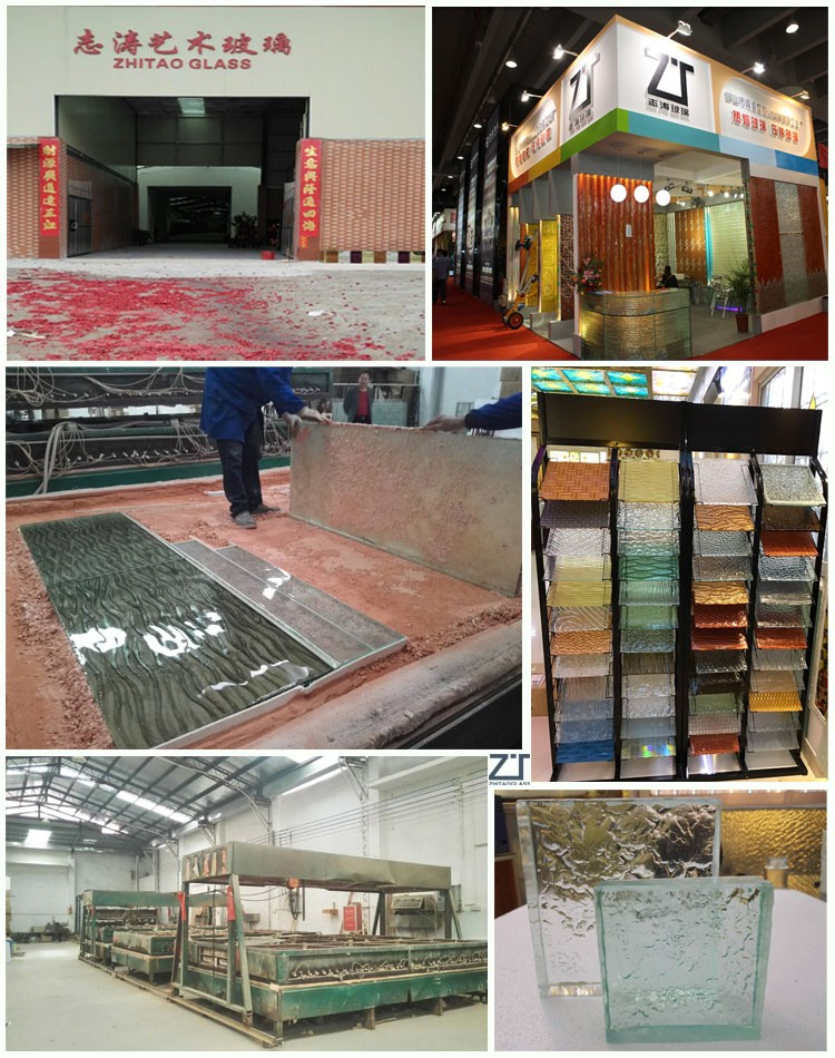 Alibaba chinese Colorful clear glass wall decorative panels