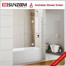 Chinese best seller cheap Corner Bath Glass Shower Screens