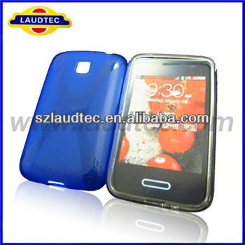 Laudtec x line curve tpu gel case for LG E435 Optimus L3 II dual