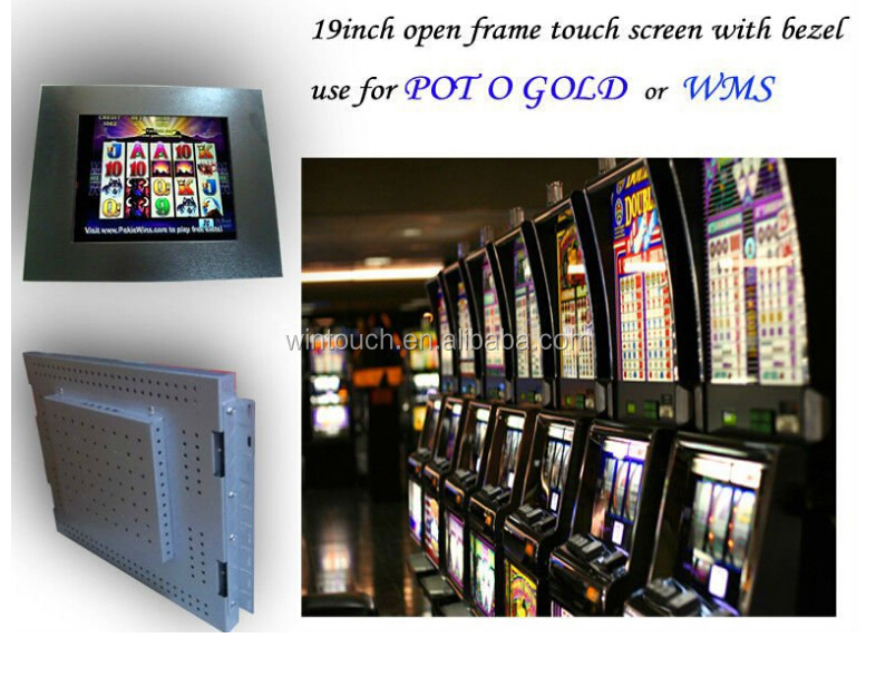 projected capacitive good OEM order for gaming machine pog wms game board led lcd touch monitor