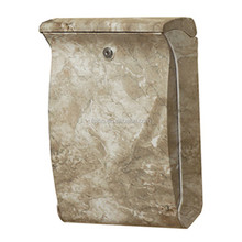 Stone color plastic mailboxes
