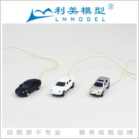 EC150--3 scale Ho handmade adult toy cars, Luminous model cars, plastic car model with 12V lighting