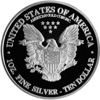 Dollar american silver eagle coin