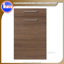 Modern PVC flat drawer front MDF kitchen cabinet door