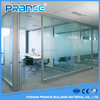 Ready made office aluminium frame glass partition wall