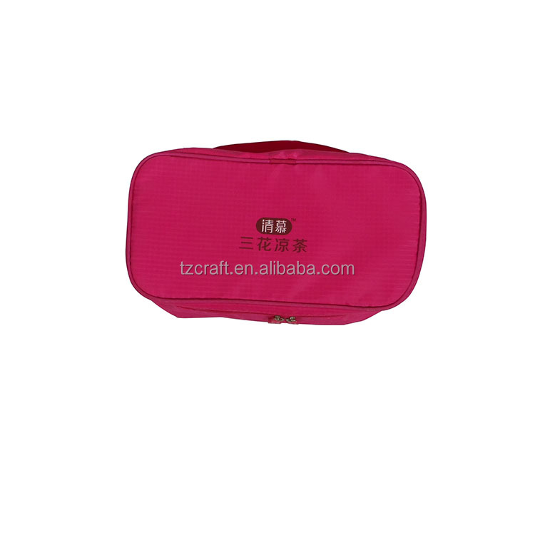 Custom 210T polyester travle cosmetic fashion makeup bag