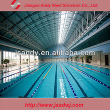 Swimming Pool with Metal frame roofing structural steel prefab shed