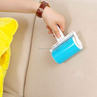 Reusable Washable Lint Roller Sticky Dust Pet Hair Remover Cleaning Brush With Cover For Pet Cloth Furniture