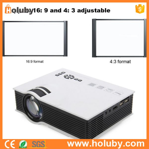 White Portable Vedio LED Projector Multimedia 55W Support VGA 1080P HD-MI USB Ports Storage Card Projector