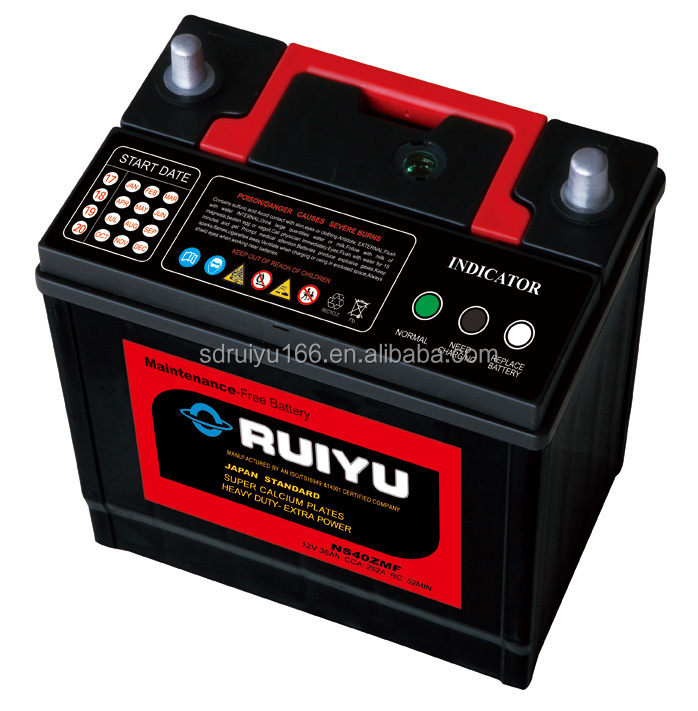 Best price Dry Charged Lead Acid Car Starting Batteries VRLA AGM JIS Japan Standard