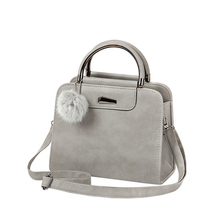 1HD0033 International Fashion Brand Trend Leather Women Gray Shoulder Bag Ladies Bag Handbag