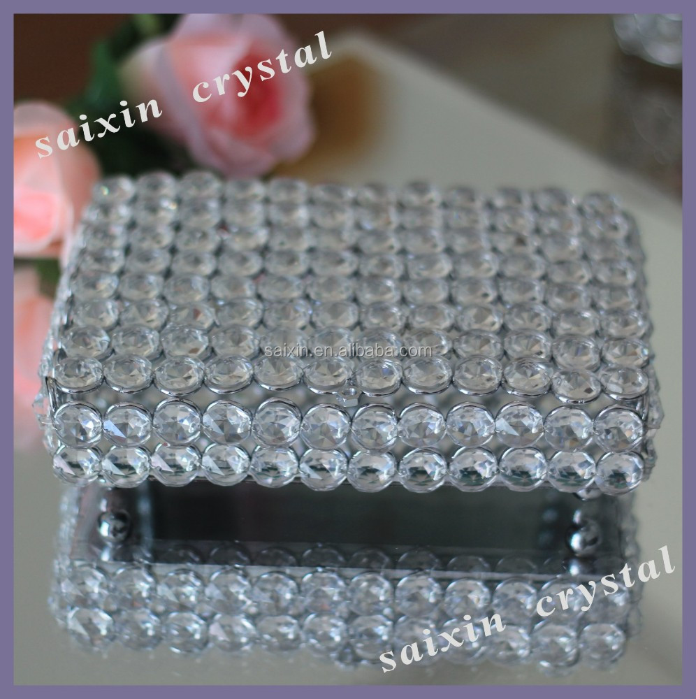 New Beautiful Crystal Jewelry Box Wedding Favors